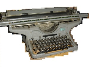 My old typewriter, upon which I learned to type. It was a gift in reward for passing the 11+ exam. Long since gone to the scrapyard, but it now exists digitally - because it is here.