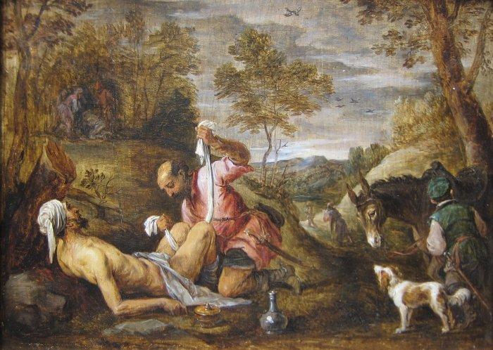 'The_Good_Samaritan'_by_David_Teniers_the_younger_after_Francesco_Bassano